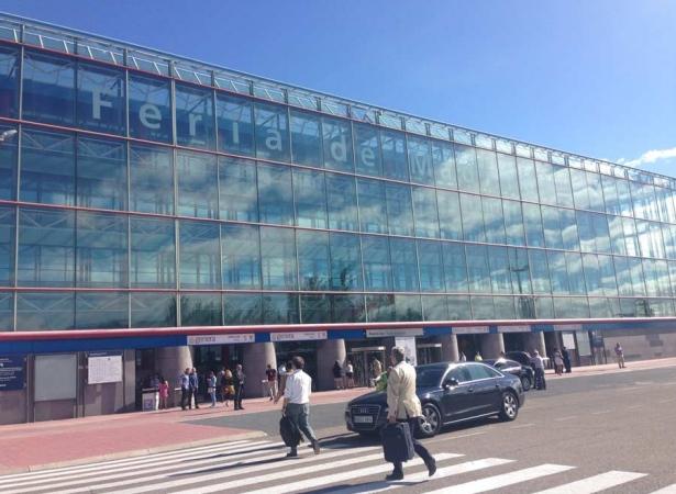 Façana de la Feria de Madird durant el Foro de Soluciones Medioambientales Sostenibles 2016