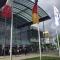 Punt d'accés a un dels pavellons de la Fira IFAT celebrada a Munich