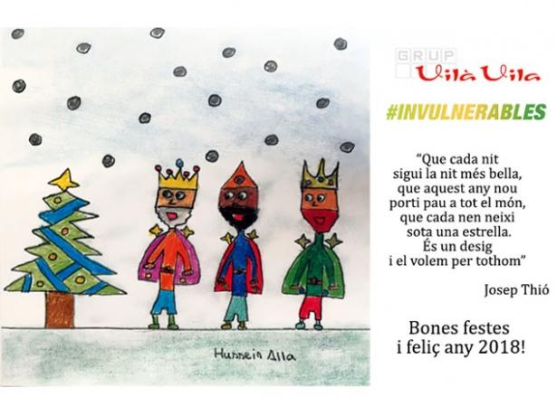 Postal de Nadal de Vilà Vila en col·laboració amb #INVULNERABLES