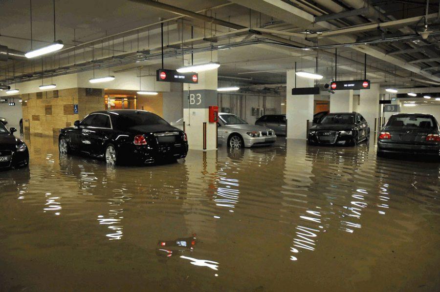 Inundació d'un pàrquing subterrani